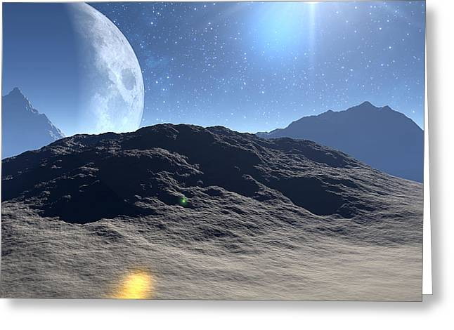 Exoplanet Greeting Cards - Extrasolar Planet Greeting Card by Take 27 Ltd