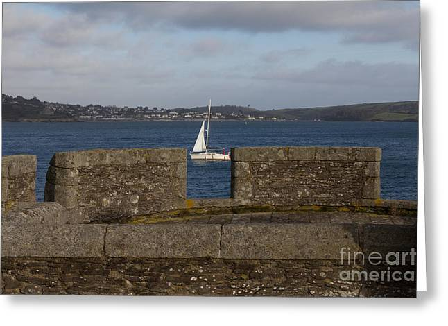 Falmouth Harbour  Greeting Card by Brian Roscorla