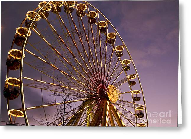 Wheels Greeting Cards - Ferris wheel Greeting Card by Bernard Jaubert