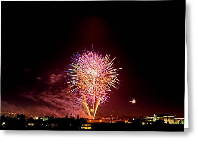 Independance Day Greeting Cards - Fireworks Greeting Card by Elijah Weber