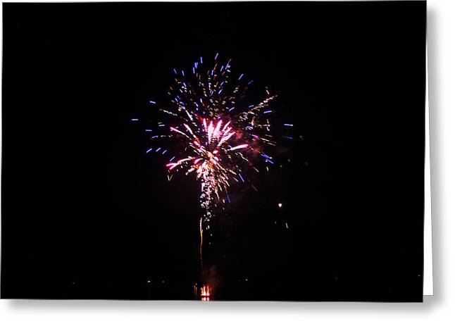 Fireworks Greeting Card by Robbie Basquez
