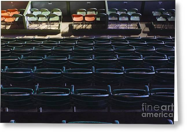 Fort Worth Stockyards Coliseum Seating Greeting Card by Jeremy Woodhouse