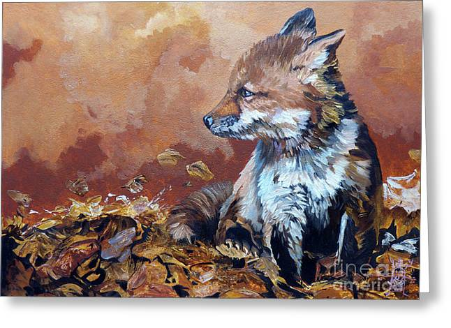 Spirit Guide Greeting Cards - Fox knows the way Greeting Card by J W Baker
