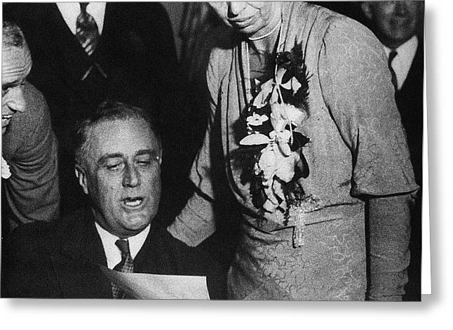 FRANKLIN D. ROOSEVELT Greeting Card by Granger