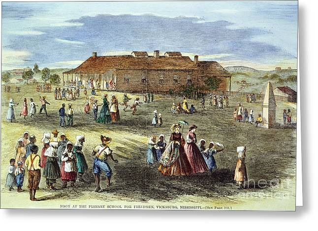 Freedmans School, 1866 Greeting Card by Granger