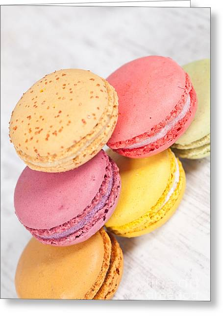 French Macarons Greeting Card by Sabino Parente