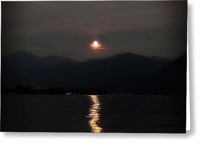 Moonshine Greeting Cards - Full Moon Greeting Card by Joana Kruse