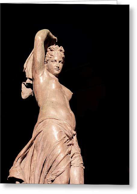 Galatea Greeting Cards - Galatea Statue front view Greeting Card by Studio Ecosse