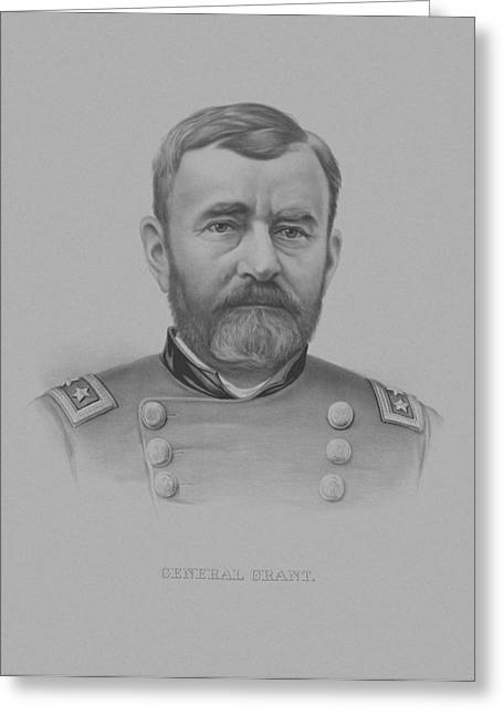 Commander Greeting Cards - General Grant Greeting Card by War Is Hell Store