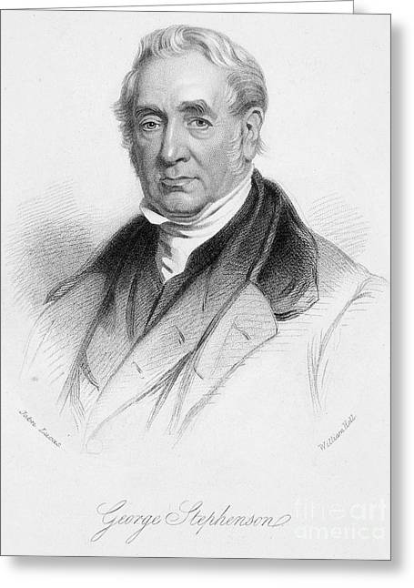 Autograph Greeting Cards - George Stephenson Greeting Card by Granger