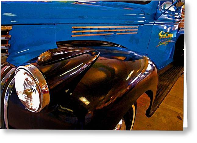 Blue Truck Greeting Cards - 3 Georges Truck Greeting Card by Michael Thomas