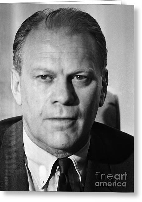 Congressman Photographs Greeting Cards - Gerald R. Ford (1913-2006) Greeting Card by Granger