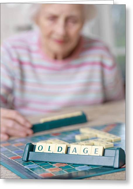 Scrabble Greeting Cards - Geriatric Care Greeting Card by Tek Image
