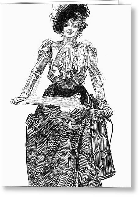 Long Skirt Greeting Cards - Gibson Girl, 1899 Greeting Card by Granger