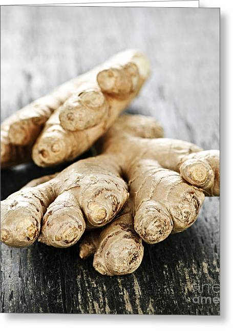 Delicacy Greeting Cards - Ginger root Greeting Card by Elena Elisseeva