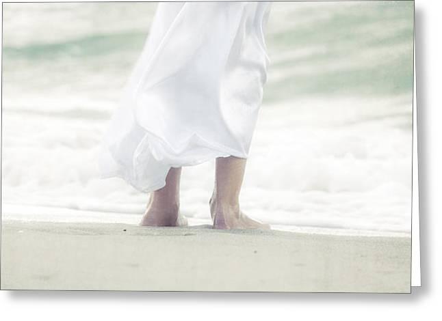 girl at the sea Greeting Card by Joana Kruse