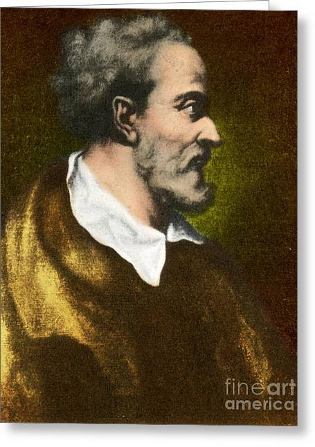 1576 Greeting Cards - Girolamo Cardano, Italian Mathematician Greeting Card by Science Source