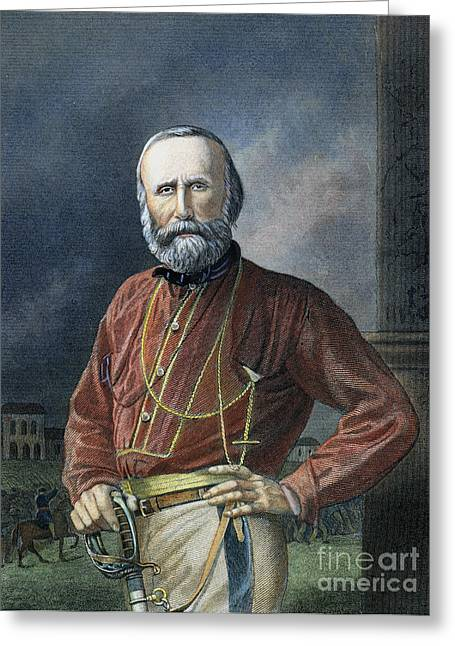 Nationalists Greeting Cards - Giuseppe Garibaldi Greeting Card by Granger