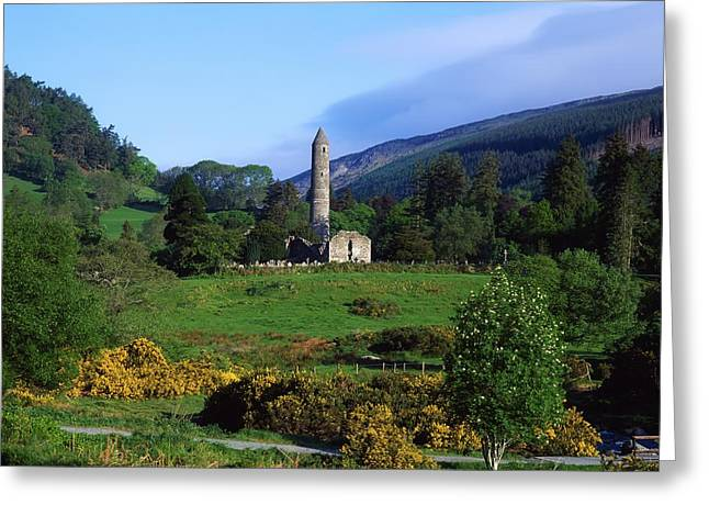 Monasticism Greeting Cards - Glendalough, Co Wicklow, Ireland Greeting Card by The Irish Image Collection