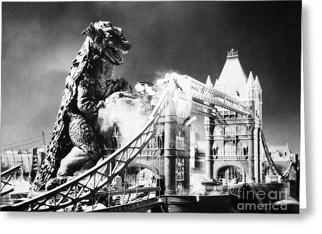 20th Greeting Cards - Godzilla Greeting Card by Granger