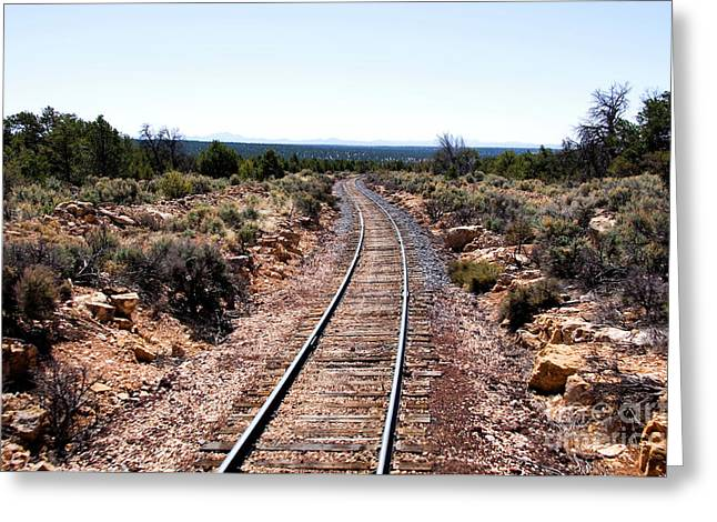 The Grand Canyon Greeting Cards - Grand Canyon Railway Greeting Card by Thomas R Fletcher