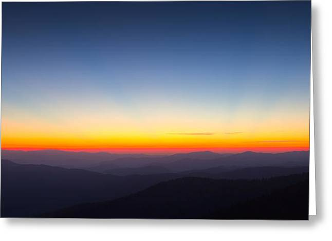 From The Dome Greeting Cards - Great Smokie Mountains Sunset Greeting Card by Dustin K Ryan