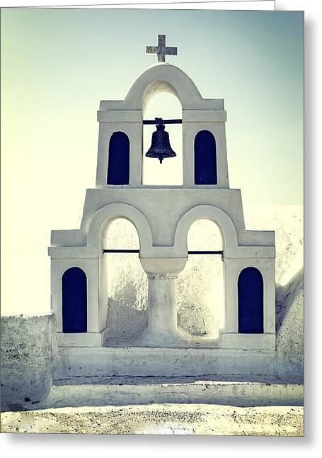 Oia Greeting Cards - Greek Chapel Greeting Card by Joana Kruse