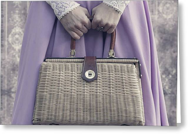 handbag Greeting Card by Joana Kruse