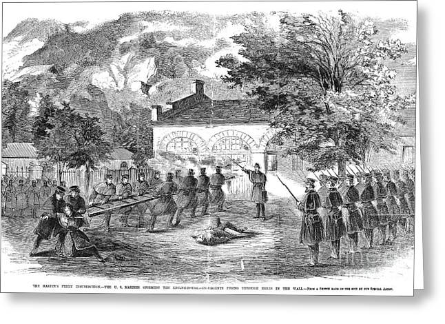 Abolition Greeting Cards - Harpers Ferry, 1859 Greeting Card by Granger