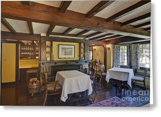 Table Cloth Greeting Cards - Hastings House Dining Room Greeting Card by Rob Tilley