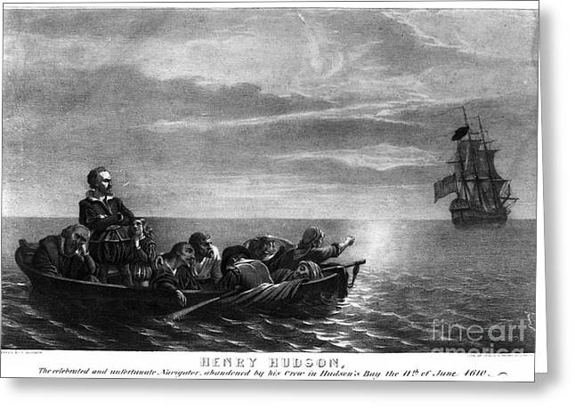 Half Moon Bay Greeting Cards - HENRY HUDSON (d. 1611) Greeting Card by Granger