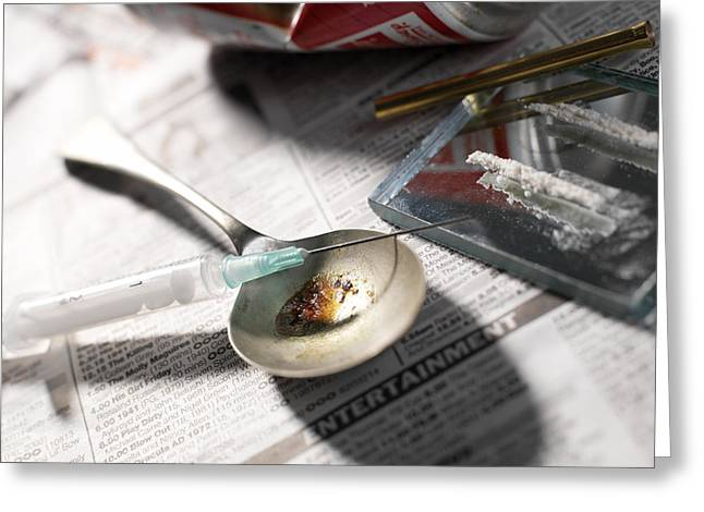 Risk Society Greeting Cards - Heroin Abuse Greeting Card by Tek Image