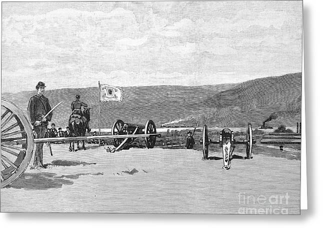 Militia Hill Greeting Cards - Homestead Strike, 1892 Greeting Card by Granger