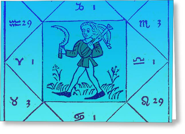 Engels Greeting Cards - Horoscope Types, Engel, 1488 Greeting Card by Science Source