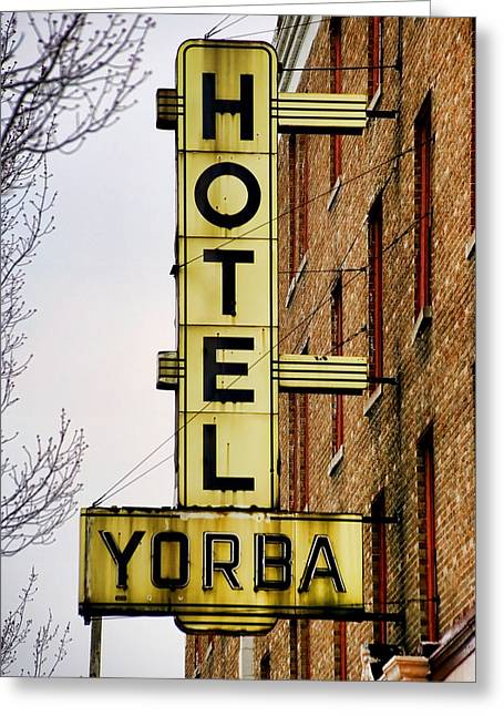 Meg Greeting Cards - Hotel Yorba Greeting Card by Gordon Dean II