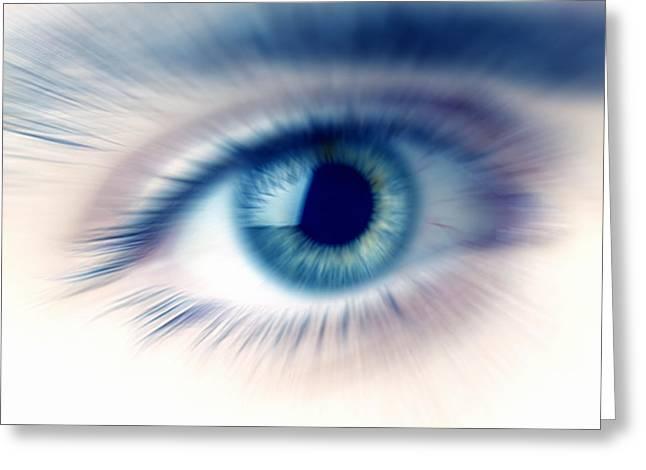 Human Eye Greeting Card by Pasieka