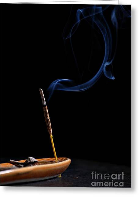 Incense Sticks Greeting Cards - Incense Greeting Card by HD Connelly