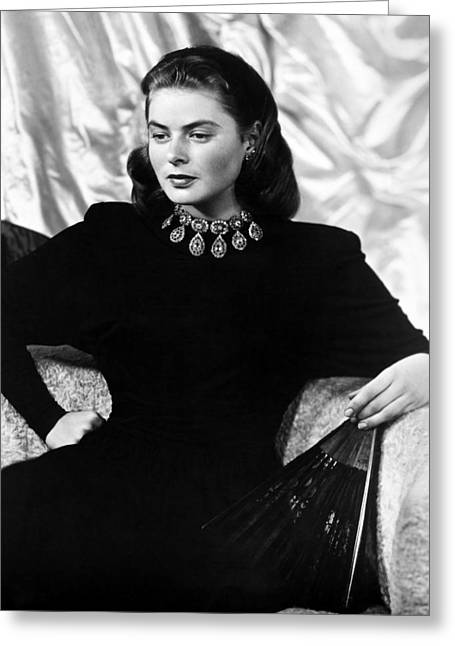 Starlet Greeting Cards - Ingrid Bergman (1915-1982) Greeting Card by Granger