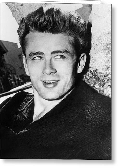 1950s Fashion Greeting Cards - James Dean (1931-1955) Greeting Card by Granger