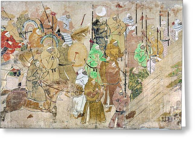 Yuan Dynasty Greeting Cards - Japan: Mongol Invasion Greeting Card by Granger