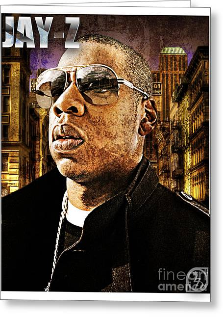 Jay Z Greeting Cards - Jay Z Greeting Card by The DigArtisT