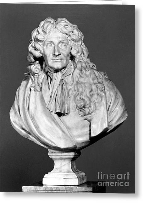 Portrait Sculpture Photograph Greeting Cards - Jean De La Fontaine Greeting Card by Granger