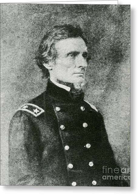 1808 Wars Greeting Cards - Jefferson Davis, President Greeting Card by Photo Researchers
