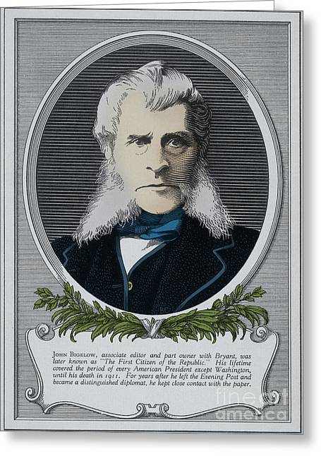 New York Evening Post Greeting Cards - John Bigelow, American Diplomat Greeting Card by Photo Researchers