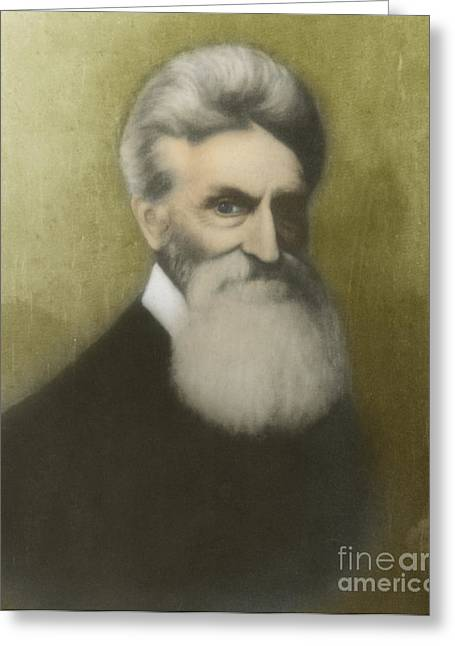 Abolition Greeting Cards - John Brown, American Abolitionist Greeting Card by Photo Researchers