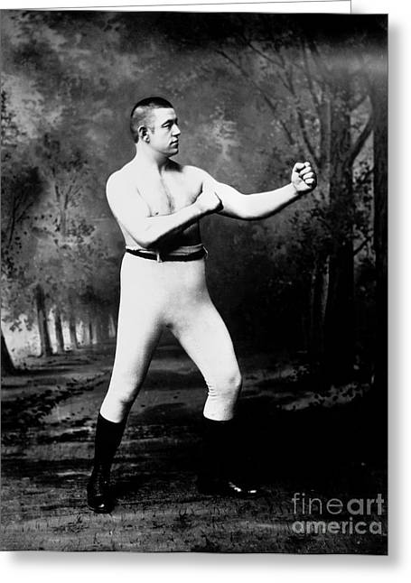 Editor Photographs Greeting Cards - John L. Sullivan (1858-1918) Greeting Card by Granger