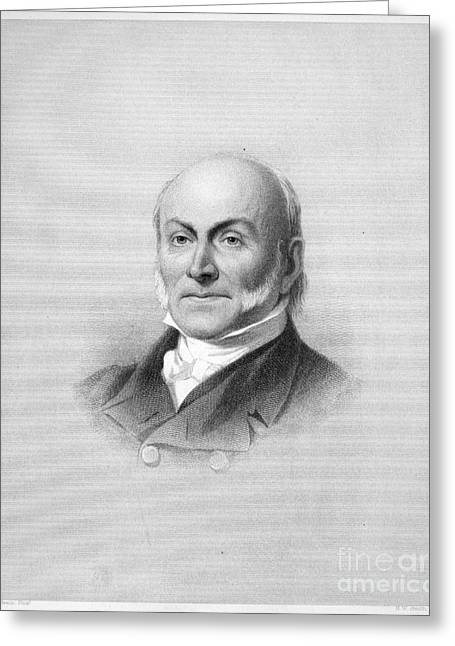 Sideburns Greeting Cards - John Quincy Adams Greeting Card by Granger