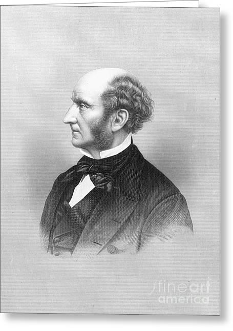 Sideburns Photographs Greeting Cards - John Stuart Mill Greeting Card by Granger