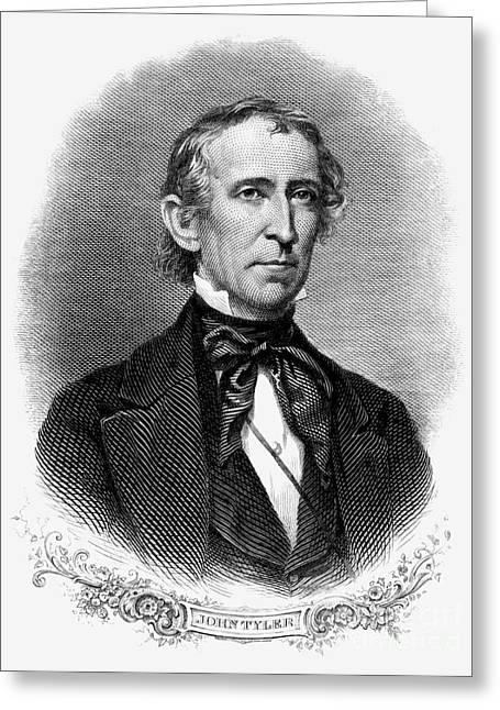 John Tyler (1790-1862) Greeting Card by Granger