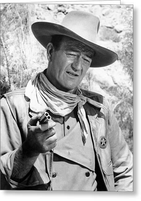 20th Greeting Cards - John Wayne (1907-1979) Greeting Card by Granger
